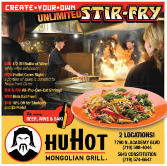 HuHot Specials - 8-2013 - Colorado Springs